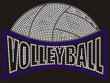 Sparkling Rhinestone Volleyball Tank or Tee