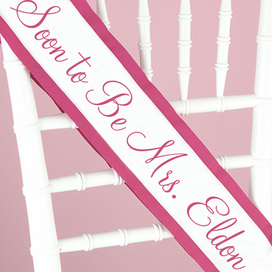 Custom Sash in Your Choice of Colors - Personalized Sash
