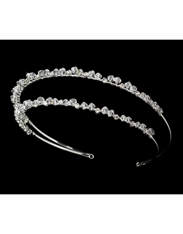 Double Crystal Headband - Bridal Headband
