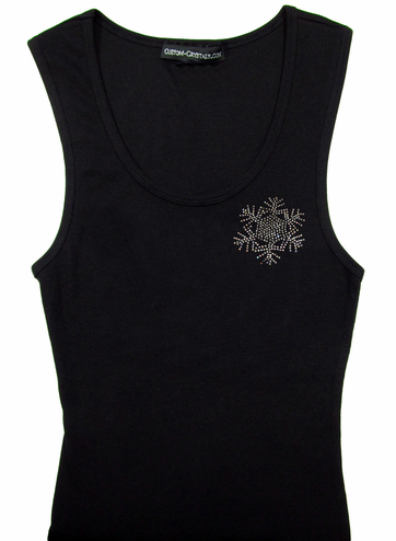 Custom Rhinestone Snowflake T-Shirt or Tank Top