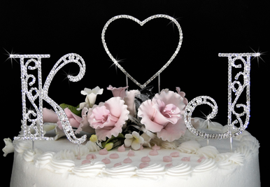 Crystal Cake Letters and Heart Set