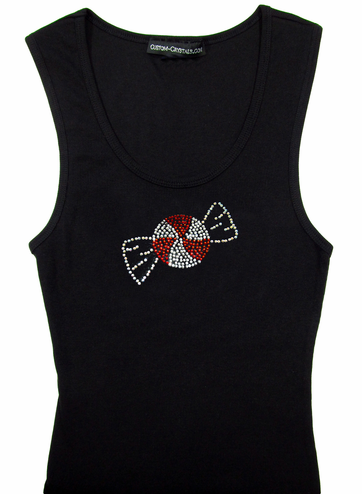 Peppermint Custom Rhinestone Tank Top or T-Shirt