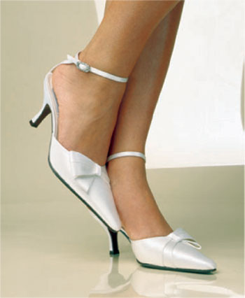 CLEARANCE: Couture Silk Bridal Pumps Wedding Shoe