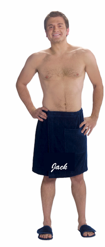 Men's Spa Wrap Personalized with Name or Monogram