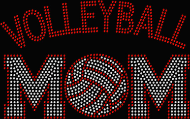 Shimmering Rhinestone Volleyball T-shirt or Tank
