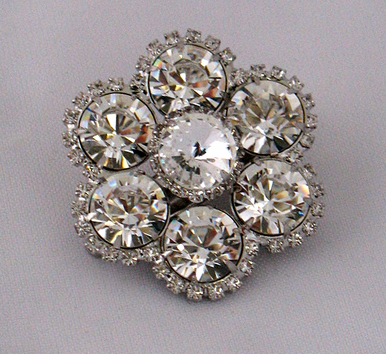 Ansonia Crystal Flower Hair Clip A7712