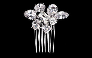 Geometric Shaped Rhinestone Side Comb TRS2244