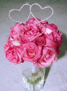 Crystal Heart Bouquet Jewelry - Sold Individually