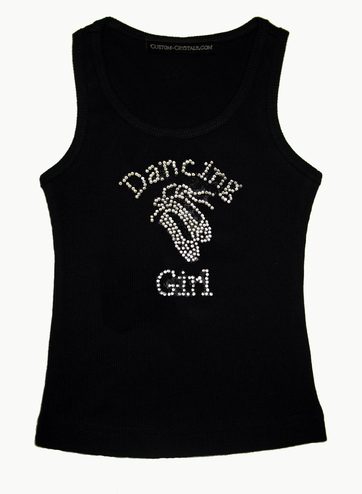 Dancing Girl Custom Girls' Rhinestone Tank or T-Shirt