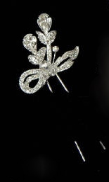 Rhinestone Hair Pick 8068