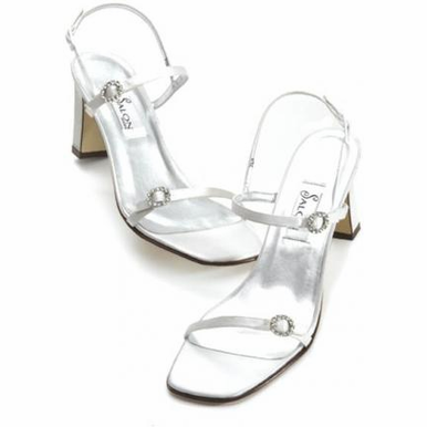 CLEARANCE SALE! Venice Silk Bridal Shoes - Mocha, Silver or White