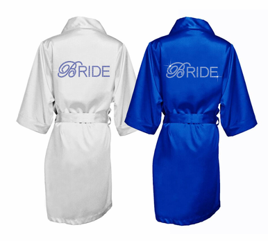 Satin and Double Bling Bride Robe