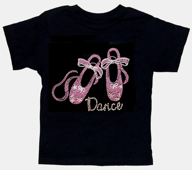 Rhinestone Ballet Shoes Tank Top or T-Shirt with Dance
