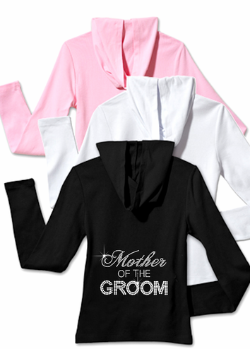 Rhinestone Mother of the Groom, Mother of the Bride Hoodie