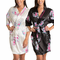 Floral Satin Robe with Embroidered Collar