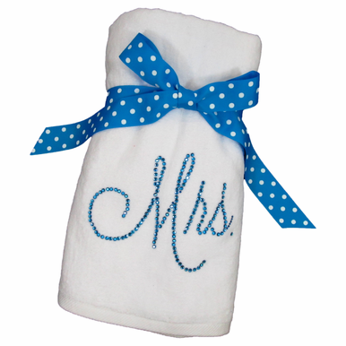 Plush Personalized Rhinestone Beach Towel