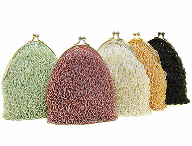 CLEARANCE: Vintage Looped Beaded Evening Purse