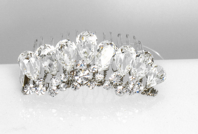 CLEARANCE: Ansonia Bridal Comb with Teardrop Crystals A7616