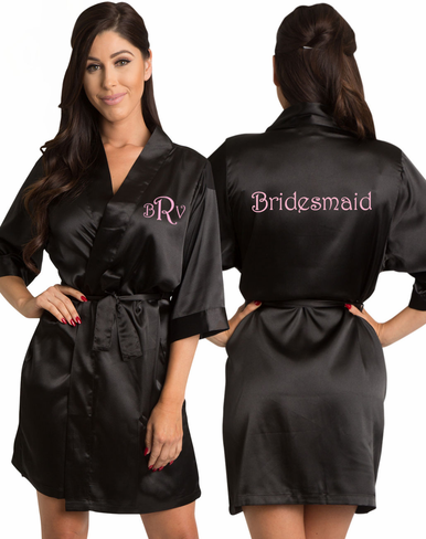 Silky Satin Bridal Party Getting Ready Robe