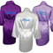 Satin Bridal Party Robe with Embroidered Personalization