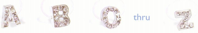 CLEARANCE: Initial and Monogram Crystal Toe Rings