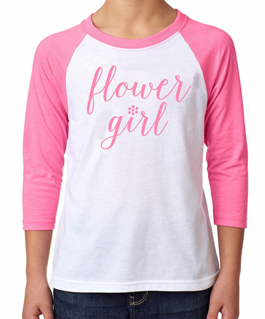 Baseball Jersey Style Flower Girl T-Shirt