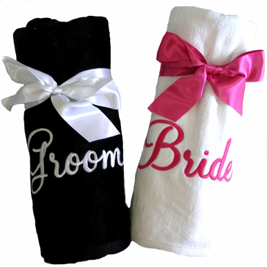 Personalized Wedding Beach Towels   Sold Individually   Advantage