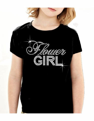 Big Bling Flower Girl T-Shirt in Choice of Colors