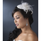Feather Flower Bridal Hat - Bridal Headpiece
