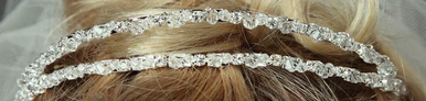 Two Tier Crystal and Rhinestone Tiara 7007
