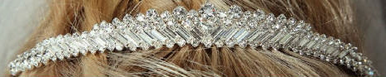 Gorgeous Tiara with Baguette and Round Rhinestones 7017