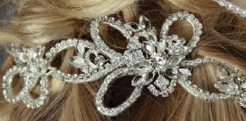 Chic Looped Rhinestone Bridal Comb 7037