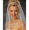 Ribbon Headpiece with Jeweled Diamond Design 8001