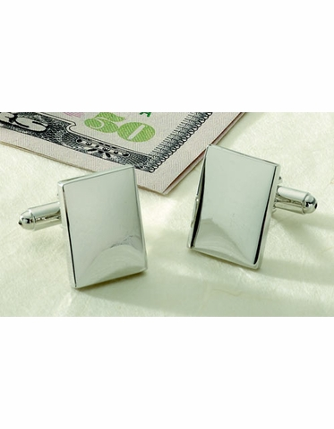 Rectangle Engraveable Cuff Links