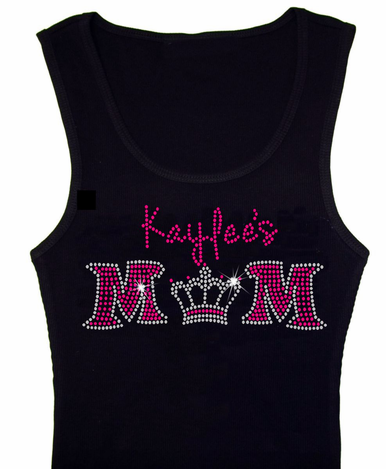 Personalized Mom Tank or Tee with Crown and Child's Name