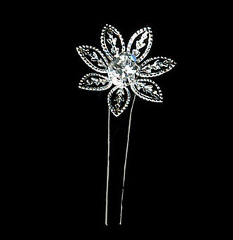 Crystal Lily Hair Pins - Set of 6