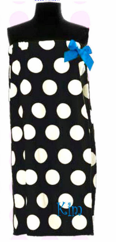 Personalized Polka Dot Spa Wrap - Personalized Bath Wrap