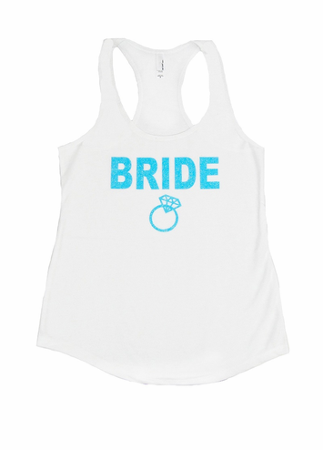 Sparkling Glitter Print Bridal Party Tank or Tee