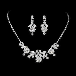 Crystal & Pearl Jewelry Set NE-7201
