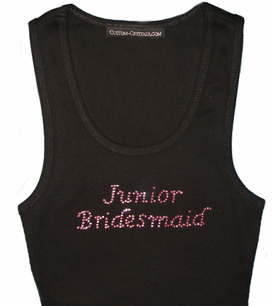 Custom Rhinestone Junior Bridemaid T-Shirt or Tank Top - Bridal Party Tee
