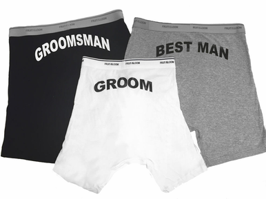 Groom, Best Man and Groomsman Boxers