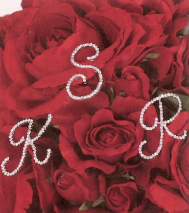 CLEARANCE: Crystal Monogram Bouquet Jewelry by Bel Aire Bridal