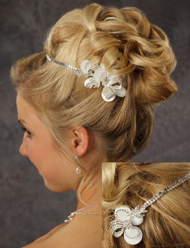 Rhinestones and Sequins Bridal Hair Band 8051