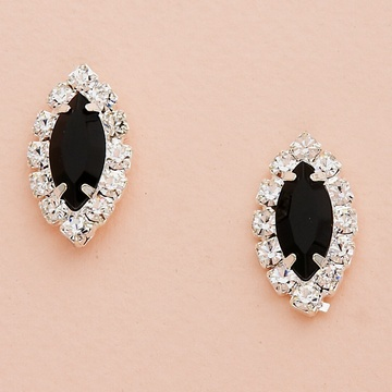 Silver Earrings with Marquise Crystal