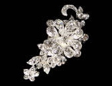 Petite Rhinestone and Crystal Clip 7062