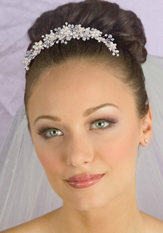 Pearl and Crystal Bridal Headpiece VA1813