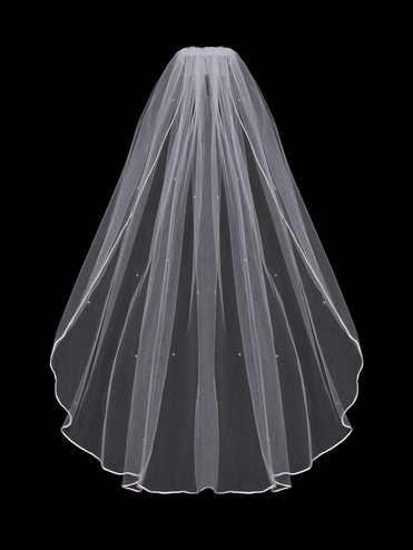 En Vogue Veil with Edging V20x - Available in Single Tier, Two Tier, or Cathedral Length