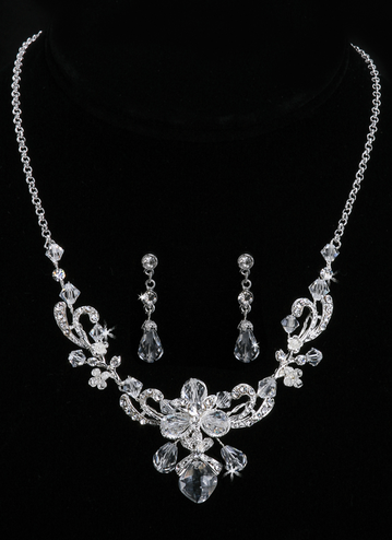 En Vogue Bridal Necklace & Earring Set NL932