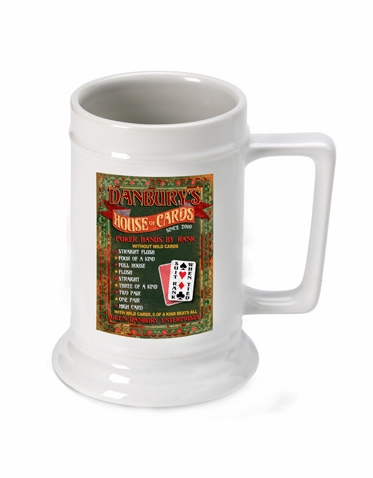 Personalized House of Cards Beer Stein