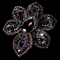 Large Crystal Celebrity Style Brooch for Gown or Hair - Brooch 8798